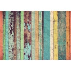 FOTOMURAL COLORED WOODEN WALL 966
