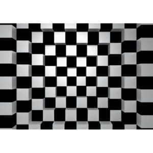 FOTOMURAL BLACK + WHITE SQUARES 968