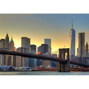 FOTOMURAL BROOKLYN BRIDGE AT SUNSET 148