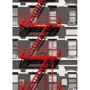 FOTOMURAL FIRE ESCAPE 432