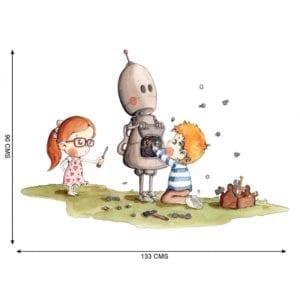 VINILO INFANTIL BOTTY EL ROBOT